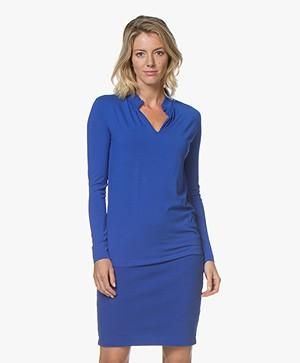 Kyra & Ko Elaine Viscose Jersey Long Sleeve T-shirt - Blue