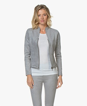 Kyra & Ko Swan Suèdine Blazer Jacket - Silver