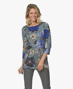 Kyra & Ko Tatum T-shirt with Floral Print - Silver