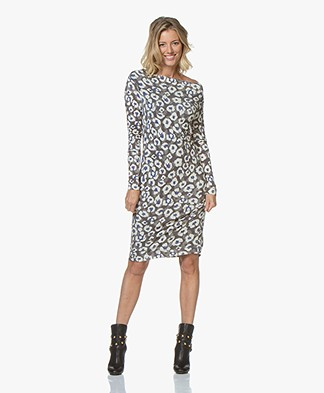Kyra & Ko Appie Leopard Dress - Grey