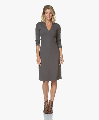 Kyra & Ko Bloem Viscose Interlock Dress - Grey