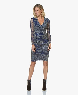 Kyra & Ko Cyril Dress with Floral Print - Blue