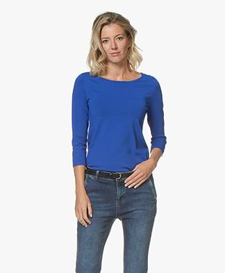 Kyra & Ko Jadey Fine Knit Pullover - Blue