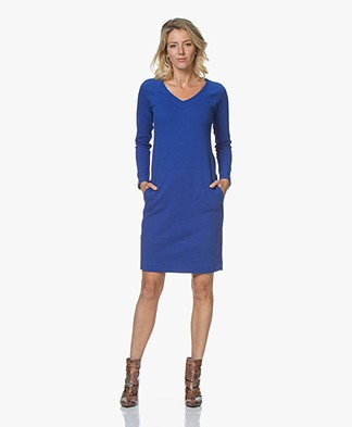 Kyra & Ko Malina V-neck Jersey Dress - Blue