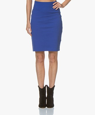 Kyra & Ko Patty Twill Jersey Pencil Skirt - Blue