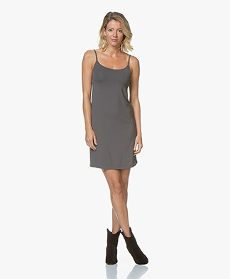Kyra & Ko Rikkie Jersey Spaghetti Strap Dress - Grey