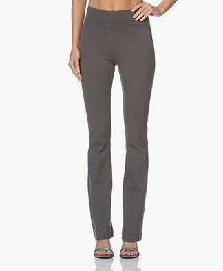 Kyra & Ko Sammie Flared Interlock Jersey Pants - Grey