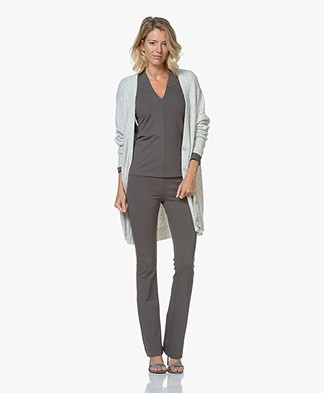 American Vintage Damsville Button-through Cardigan - Grey Melange