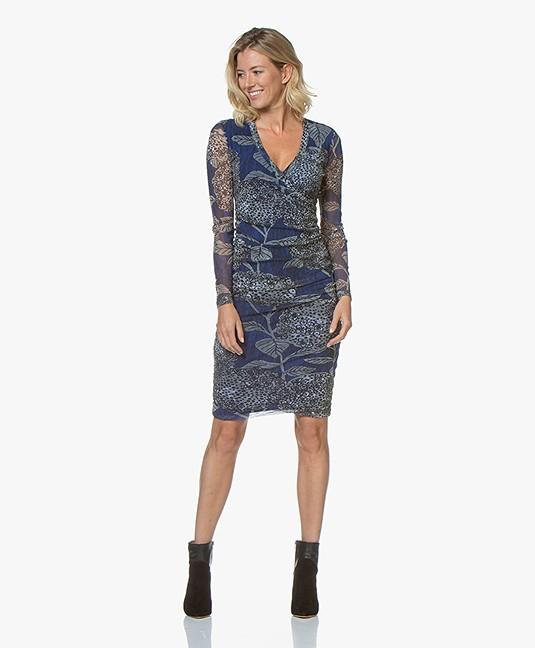 cbbfe31fd1 Kyra & Ko Cyril Dress with Floral Print - Blue - cyril