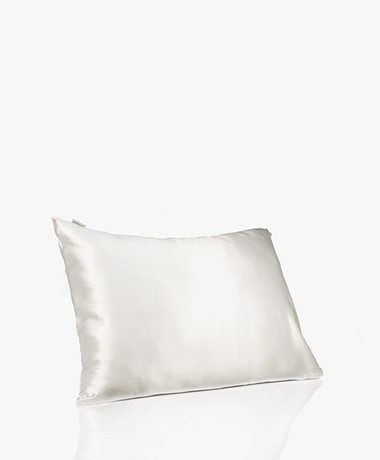 By Dariia Day Mulberry Silk Pillow Case - Powder White