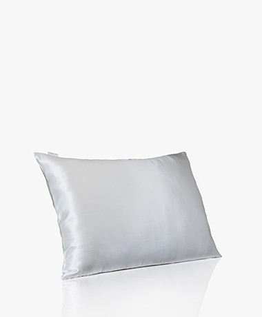 By Dariia Day Mulberry Silk Pillow Case - Silver Grey