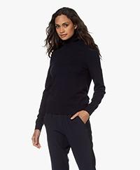 Repeat Organic Cashmere Turtleneck Sweater - Navy