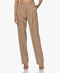 Filippa K Julie High-rise Pleated Pants - Camel
