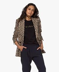 Zadig & Voltaire Visko Jacquard Leopard Blazer - Naturel