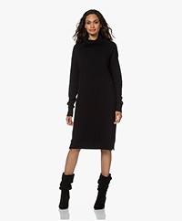 Resort Finest Knitted Cashmere Blend Turtleneck Dress - Black