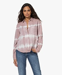 Rails Ingrid Raw Tie-dye Overhemd - Mauve White Waves