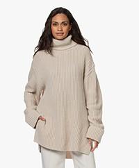 Filippa K Valerie Oversized Turtleneck Sweater with Cashmere - Ivory