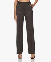 Filippa K Cara Flannel Wool Blend Pants - Oak Melange