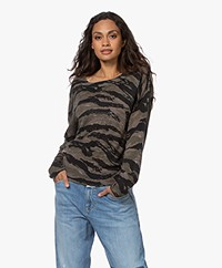 Zadig & Voltaire Axel Cashmere Camouflage Sweater - Khaki