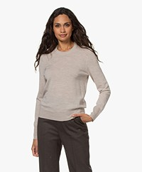 Filippa K  Merino R-neck Sweater - Beige Melange