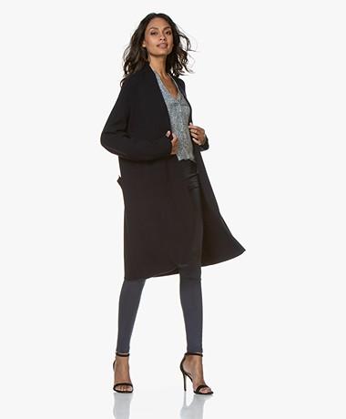 Woman by Earn Jil Modal Blend Open Cardigan - Navy