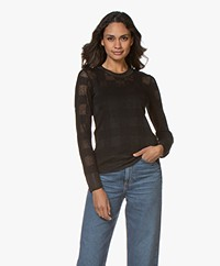 Rag & Bone Charlotte Pointelle Knit Sweater - Black