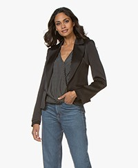 By Malene Birger Blazer Jocelynn Satin Blazer - Black