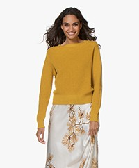 Pomandère Rib Knit Wool Blend Sweater - Ocher Yellow