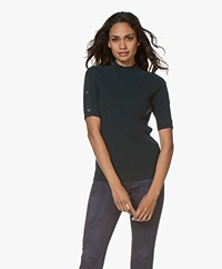 Repeat Cashmere Short Sleeve Sweater - Algae