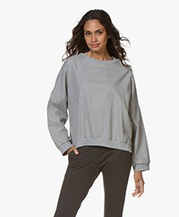 Closed Lora Cotton Flannel Sweatshirt - Light Grey Melange