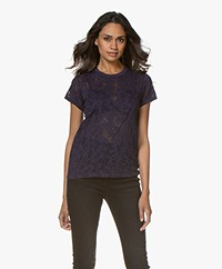 Rag & Bone Valencia Burn-out T-shirt - Purple Night