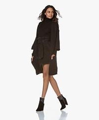 American Vintage Boolder Cropped Sleeve Cardigan - Black