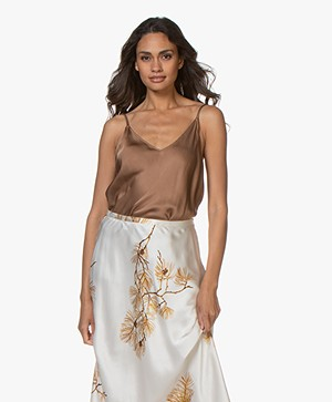 Resort Finest Satijnen Camisole Top - Camel