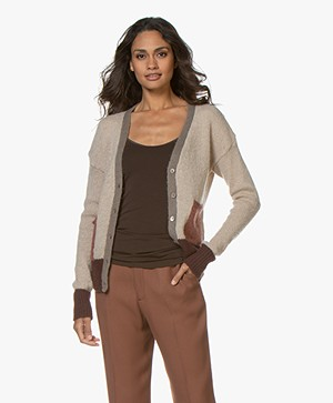 indi & cold Color Block Mohairmix Vest - Beige