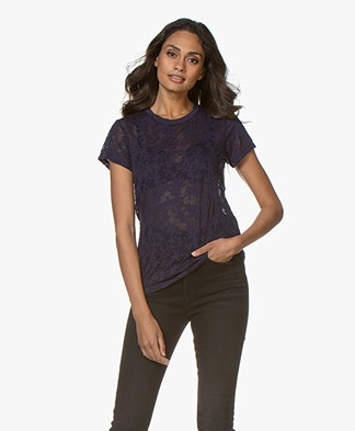 Rag & Bone Valencia Burn-out T-shirt - Purple Night