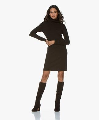 Josephine & Co Gustava Fine Knitted Turtleneck Dress - Black