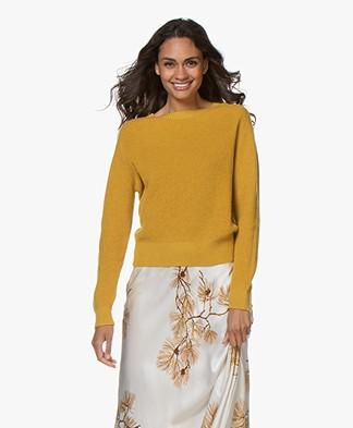 Pomandère Rib Knit Wool Blend Sweater - Ocher Yellow