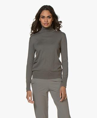 Filippa K Silk Mix Roller Neck Sweater - Mineral Grey