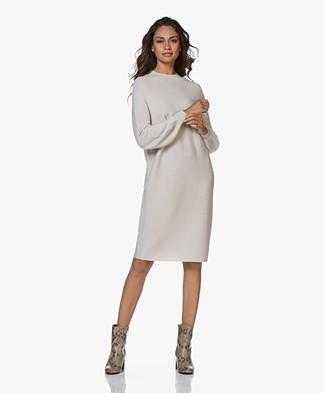 Drykorn Marisal Knitted Puff Sleeve Dress - Beige