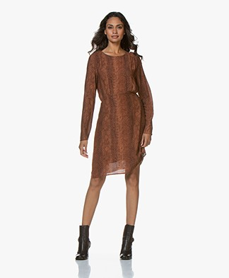 MKT Studio Rimik Viscose Snake Print Dress - Potiron