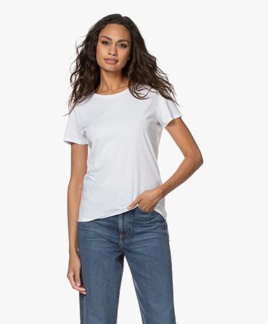 Majestic Filatures Silk Touch Katoenen T-shirt - Wit