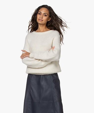 American Vintage East Alpaca Blend Sweater - Mother of Pearl Melange