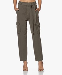 ANINE BING Kennedy Cotton Cargo Pants - Green