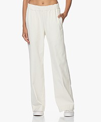 LaSalle Loose-fit Corduroy Pants - Panna