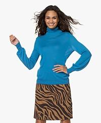 Kyra & Ko Iris Tencel Blend Turtleneck Pullover - Vintage Blue