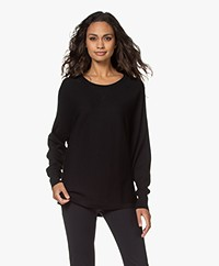 Filippa K Soft Sport Warm-up Cotton Blend Sweater - Black