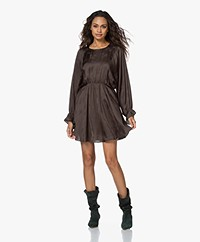 American Vintage Gitaka Satin Jacquard Dress - Carbon