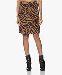 Kyra & Ko Norell Zebra Jacquard Skirt - Gold Spice