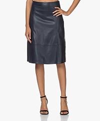 Kyra & Ko Tyra Faux Leather Skirt - Blue Iris