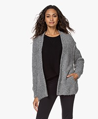 American Vintage Tudbury Open Cardigan - Heather Grey